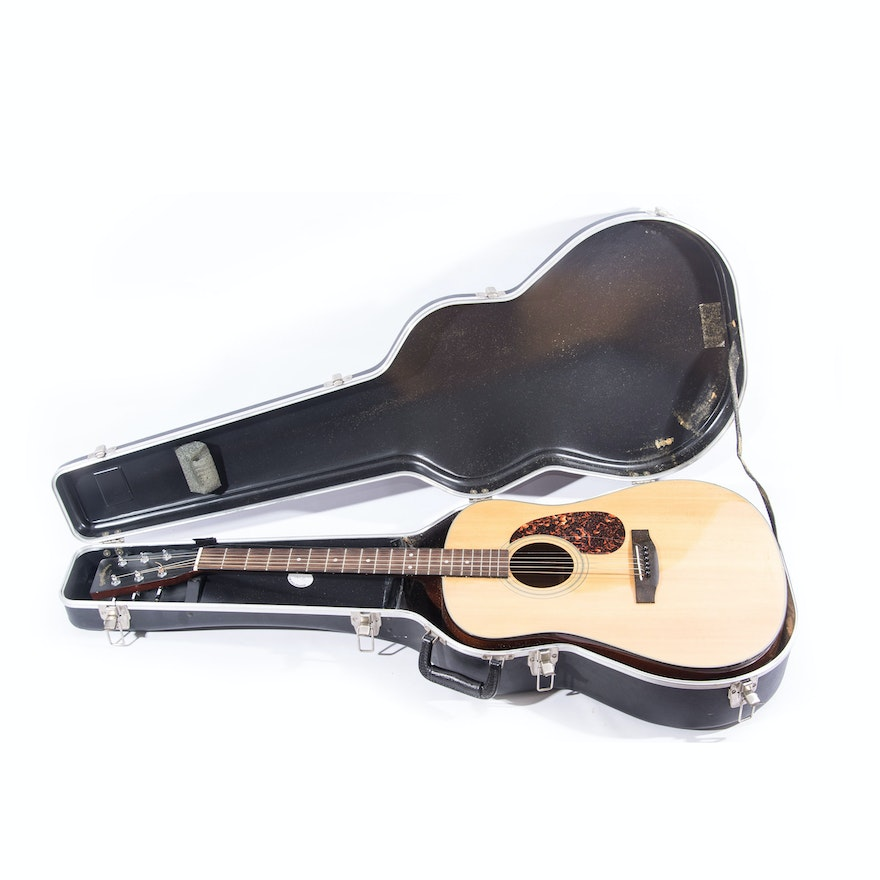 Sigma Acoustic Guitar And Case Ebth