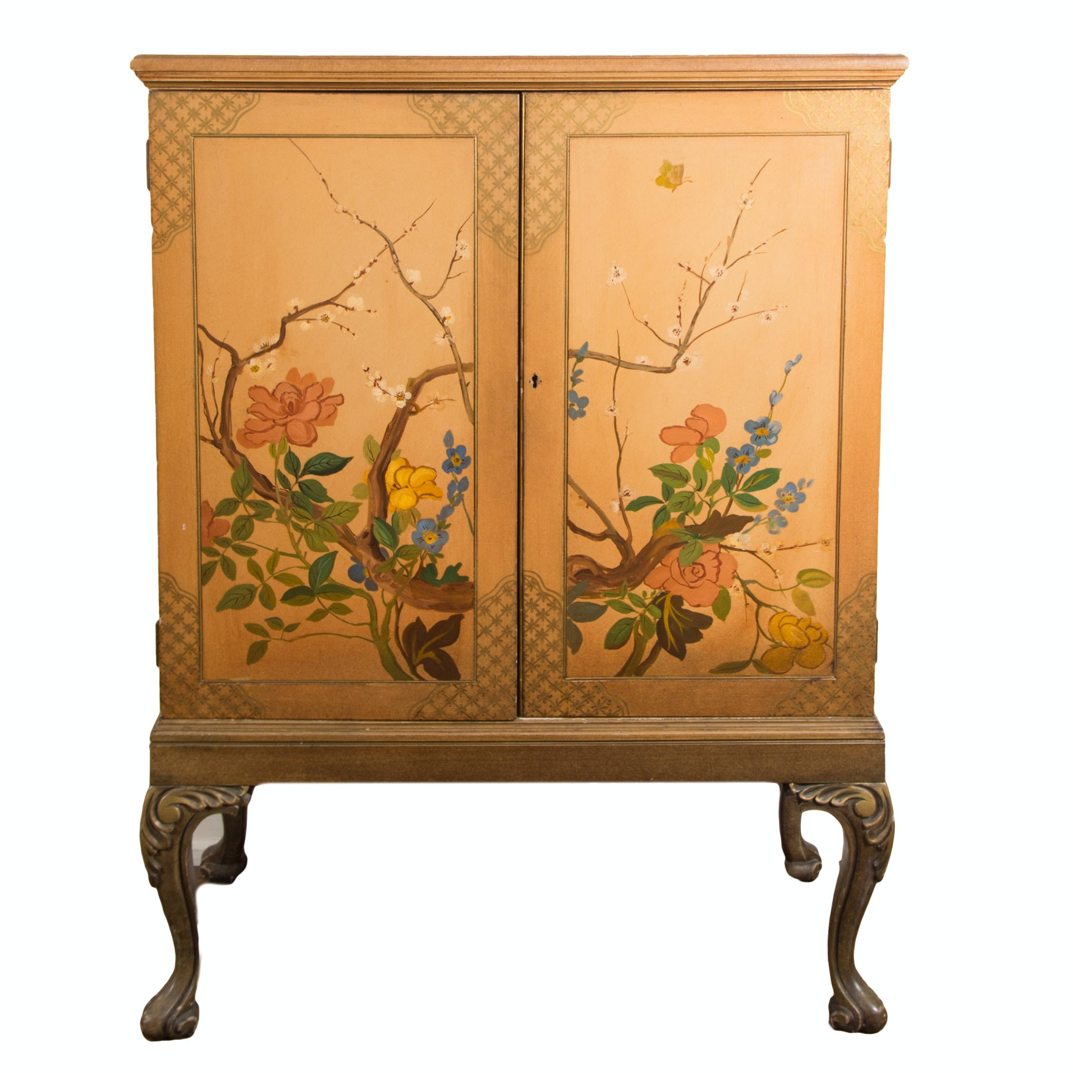 Beautiful Chinoiserie Style Lowboy Cabinet ...