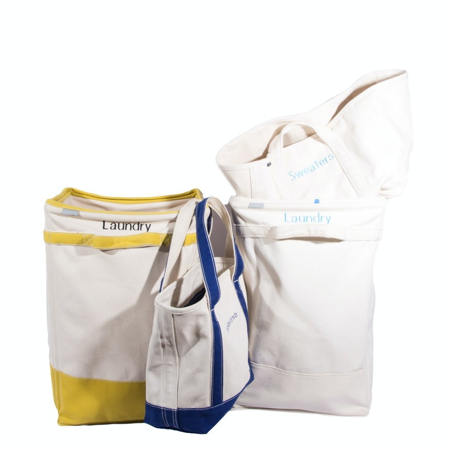 Land S End Canvas Laundry Totes And Baskets