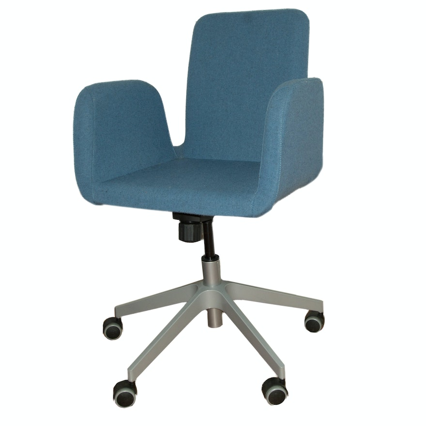 chairs office your swivel grey stools its chair medium body is ll gently to with benches en armrests rolling hattefj gb the ergonomic shape that ikea thanks embraces products spinning