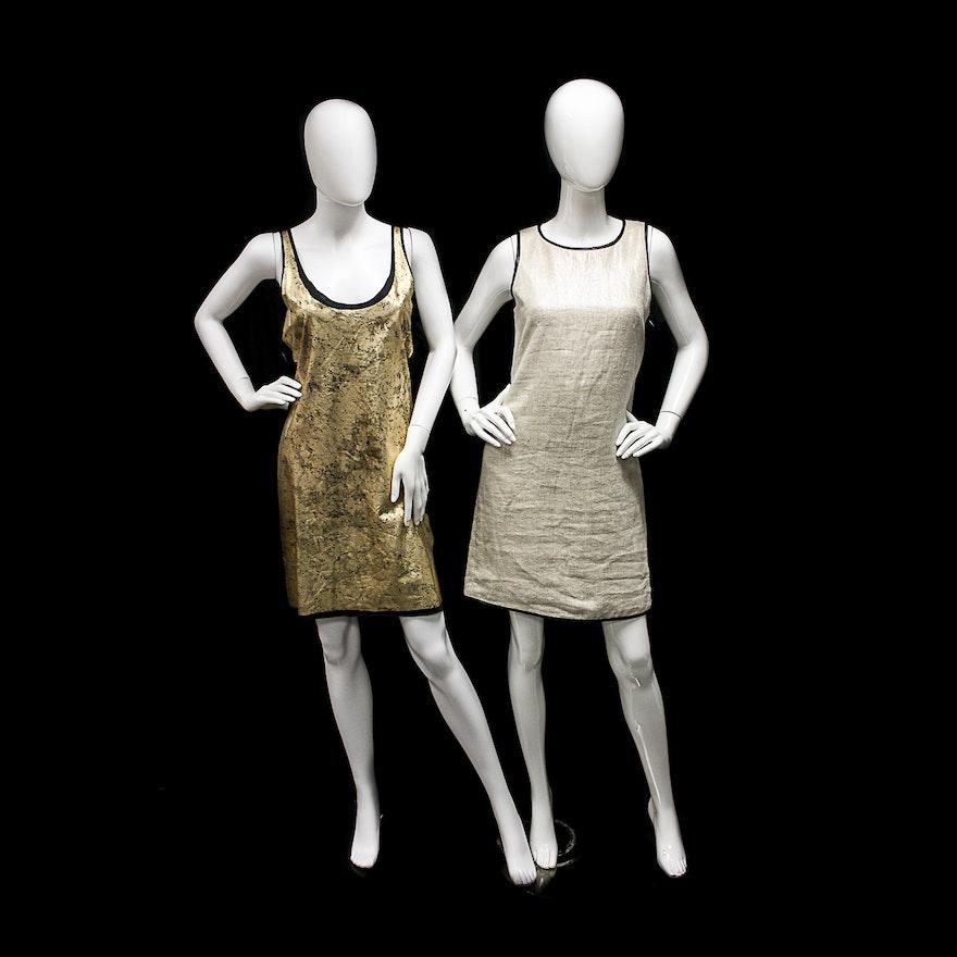 f6fc513b762 Tory Burch Gold Wash Dress and Massimo Dutti Linen Dress   EBTH