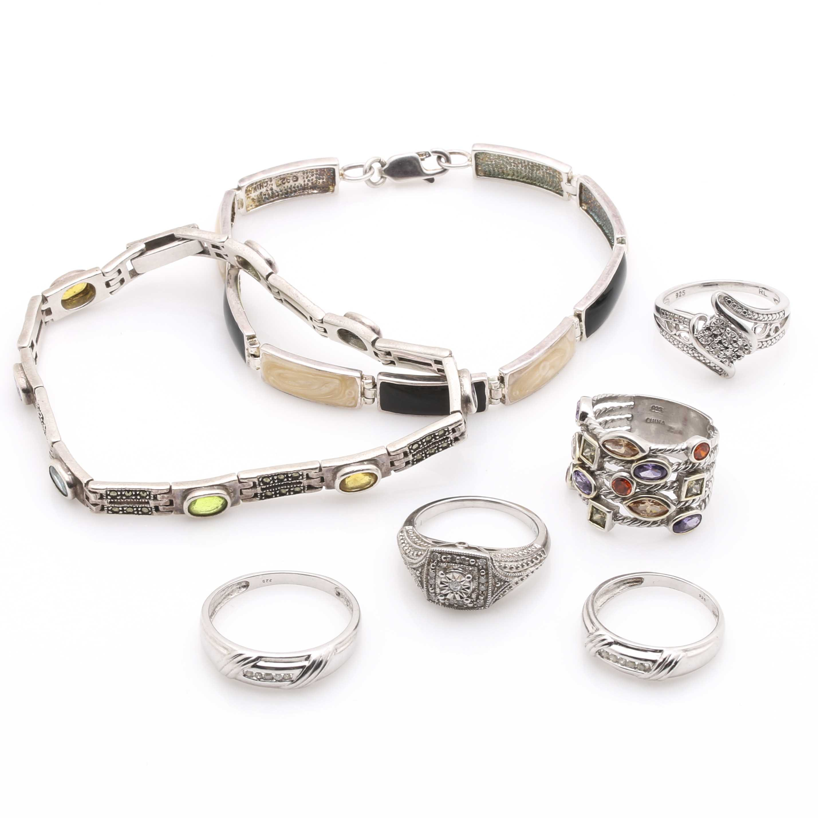 Sterling Silver Diamond and Gemstone Assortment