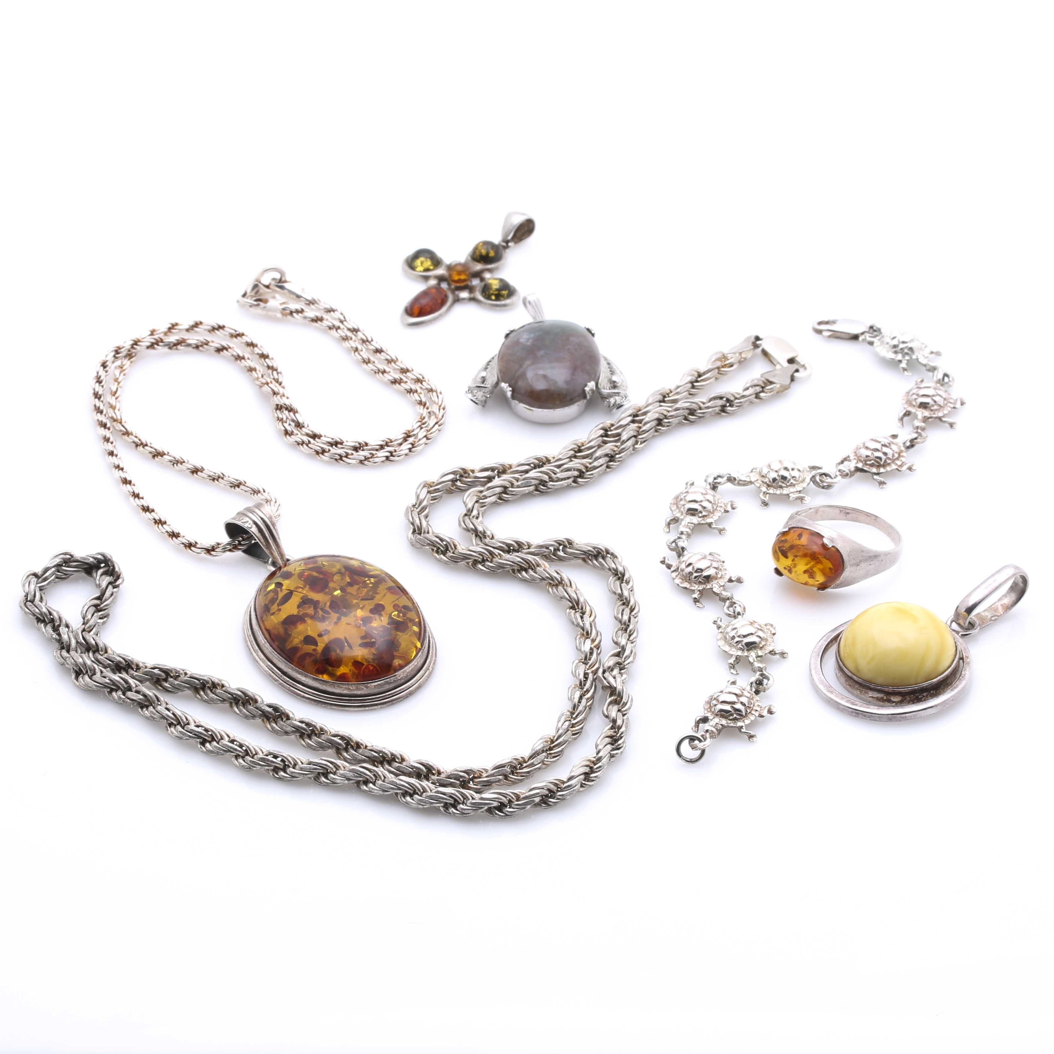 Sterling Silver and Gemstone Jewelry Assortment