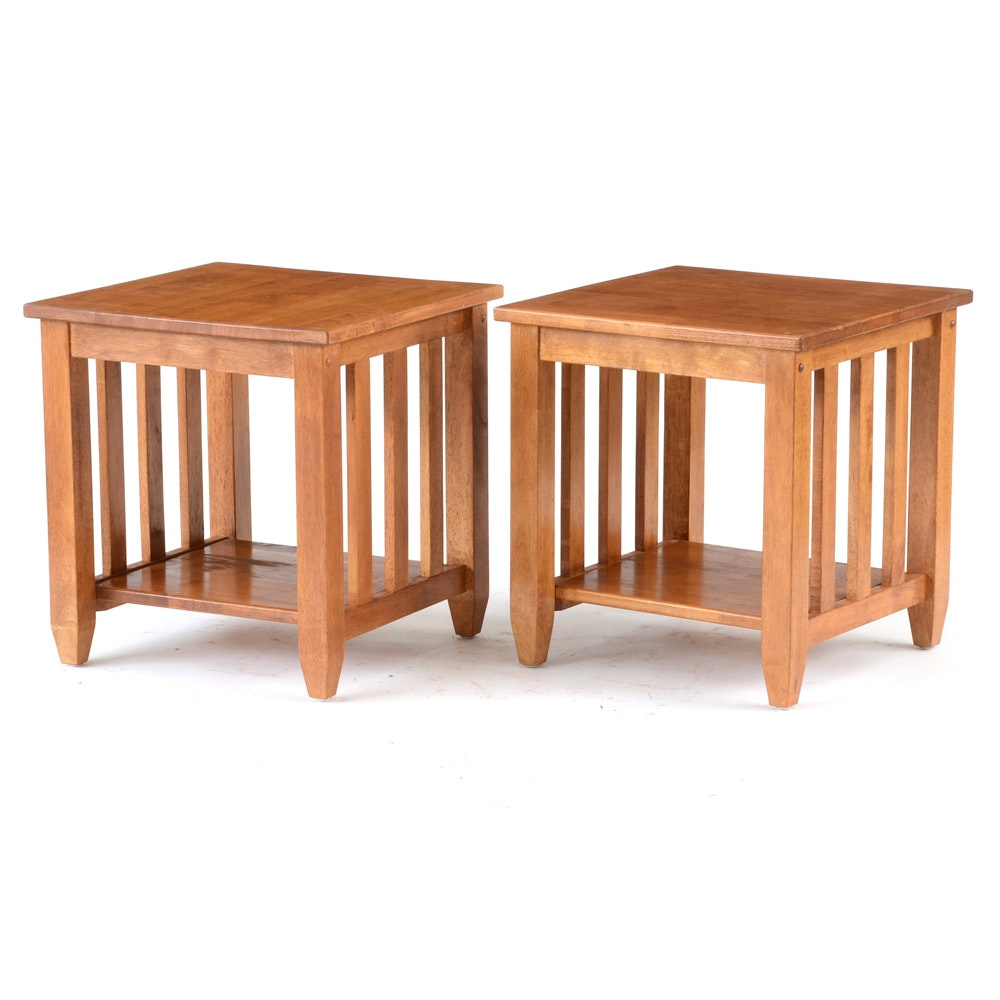 Pair of Mission Style End Tables