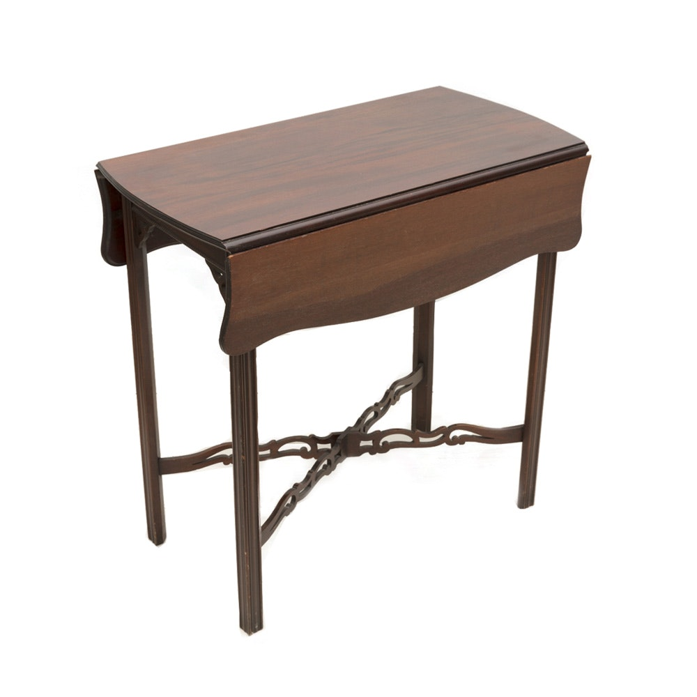 Chippendale Style Drop Leaf Side Table