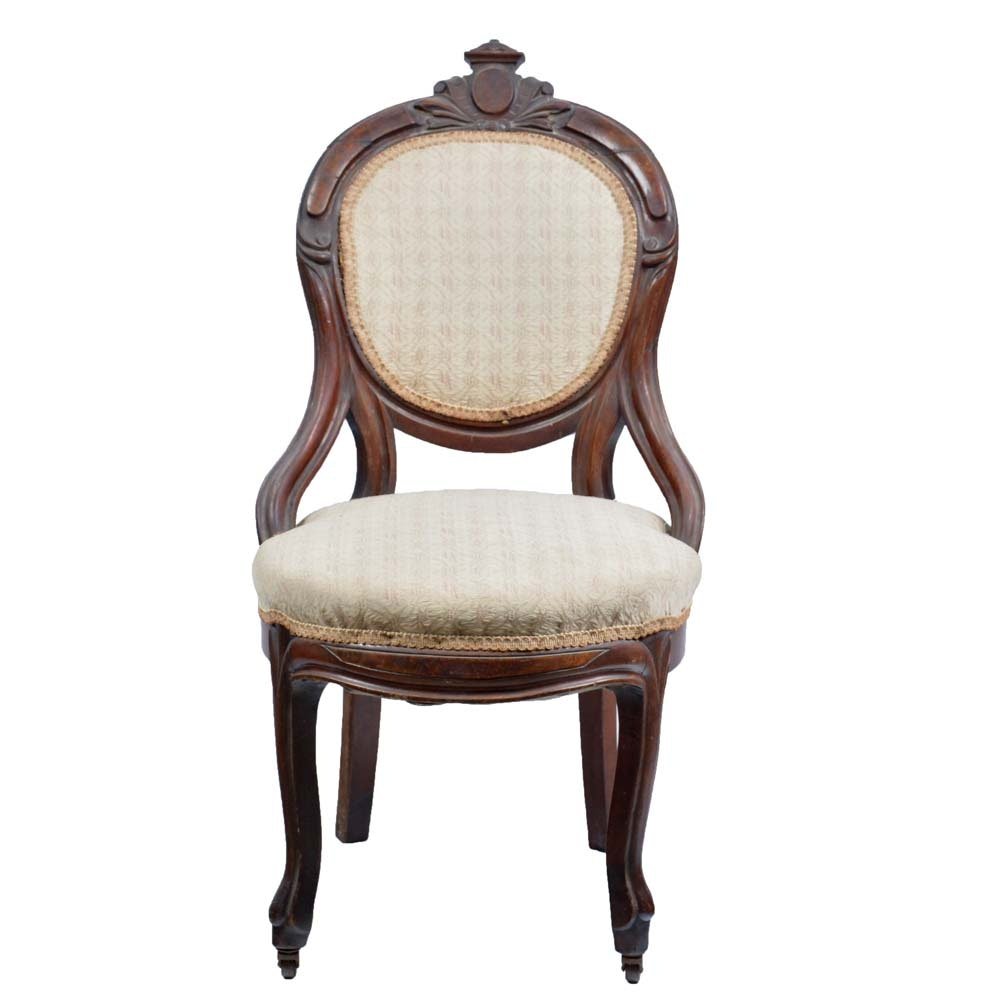 Wonderful Antique Balloon Back Parlor Chair ...