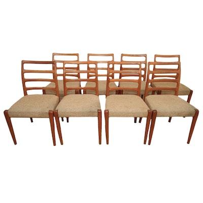 Eight Danish Modern Style Dining Chairs