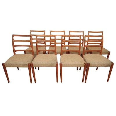 Eight Danish Modern Style Dining Chairs