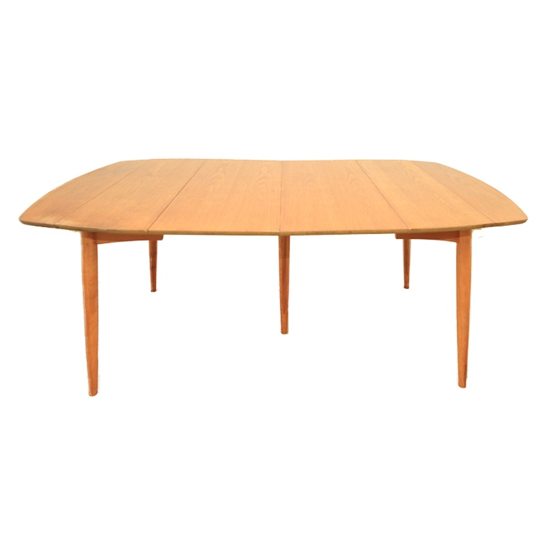 Maple Kitchen Table With Chair And Bench Ebth: Mid Century Modern Maple Dining Table : EBTH