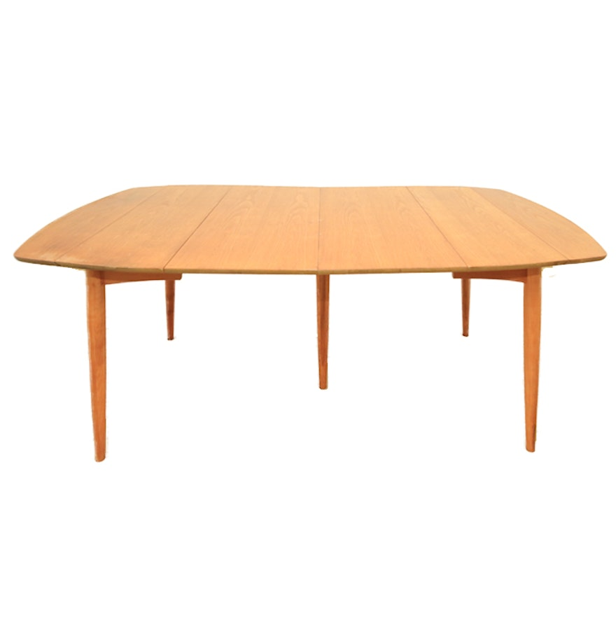 Mid century modern maple dining table ebth for Maple dining table