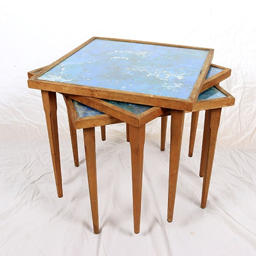 Mid Century Modern Stacking Side Tables