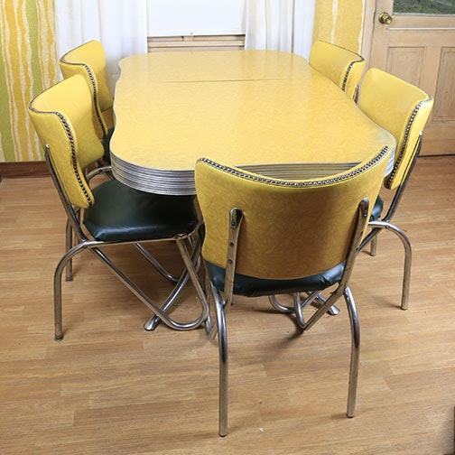 Mid century modern kitchen table and chairs ebth for W kitchen table taipei