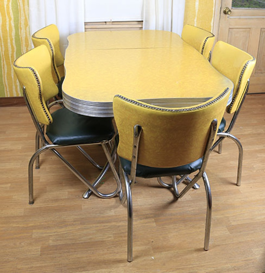 Mid century modern kitchen table and chairs ebth for Modern kitchen table