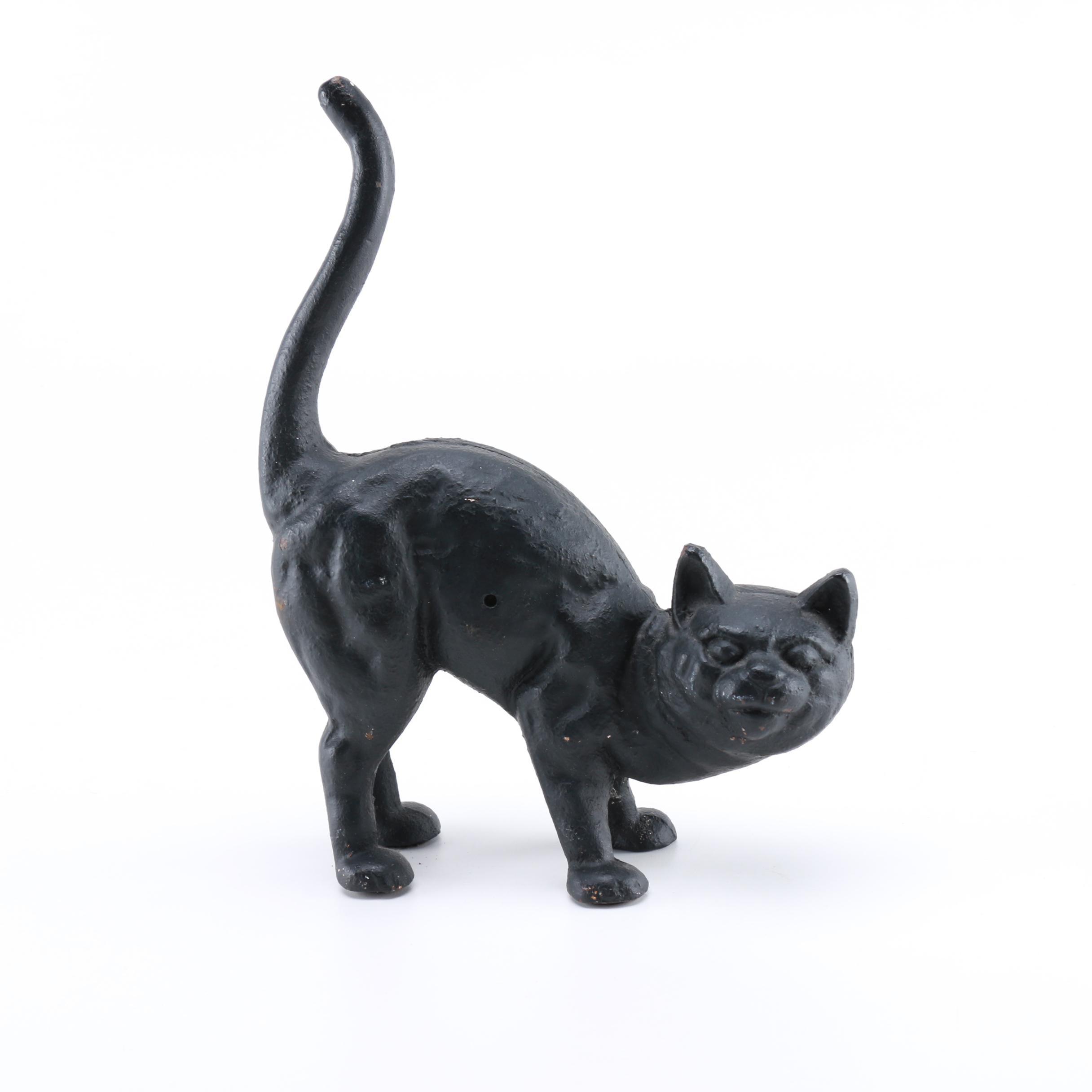 Hubley Black Cat Door Stop