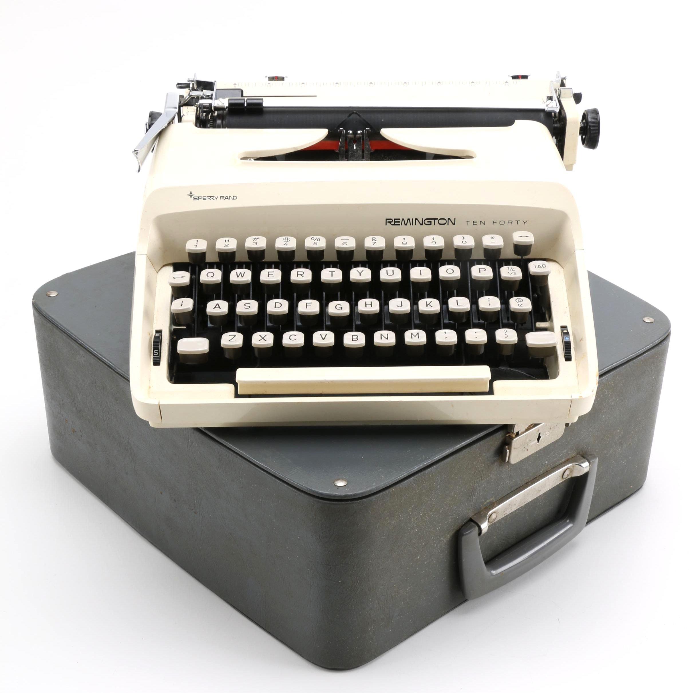 """Remington """"Ten Forty"""" Manual Typewriter with Original Case"""