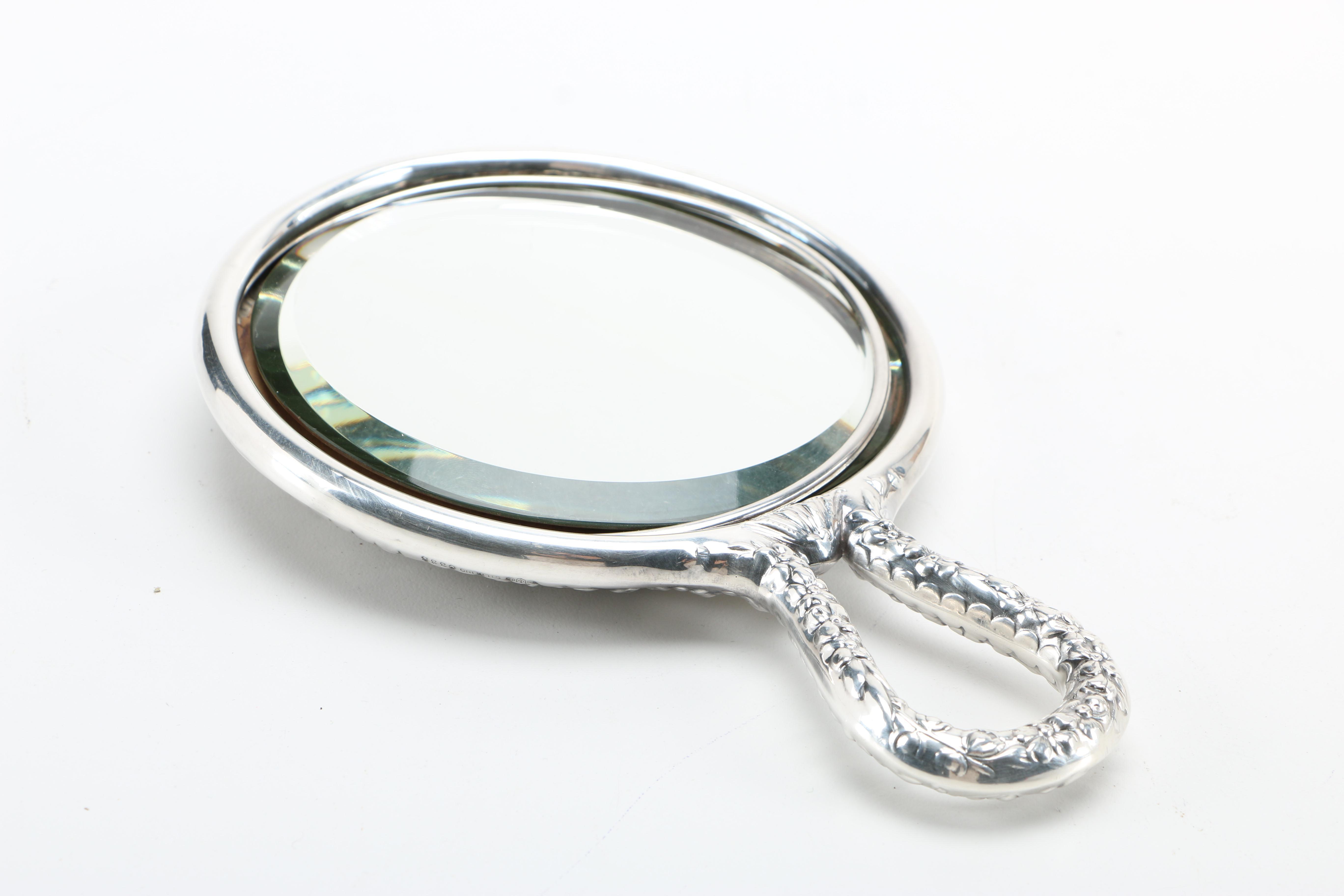 Gorham Sterling Repoussé Hand Mirror