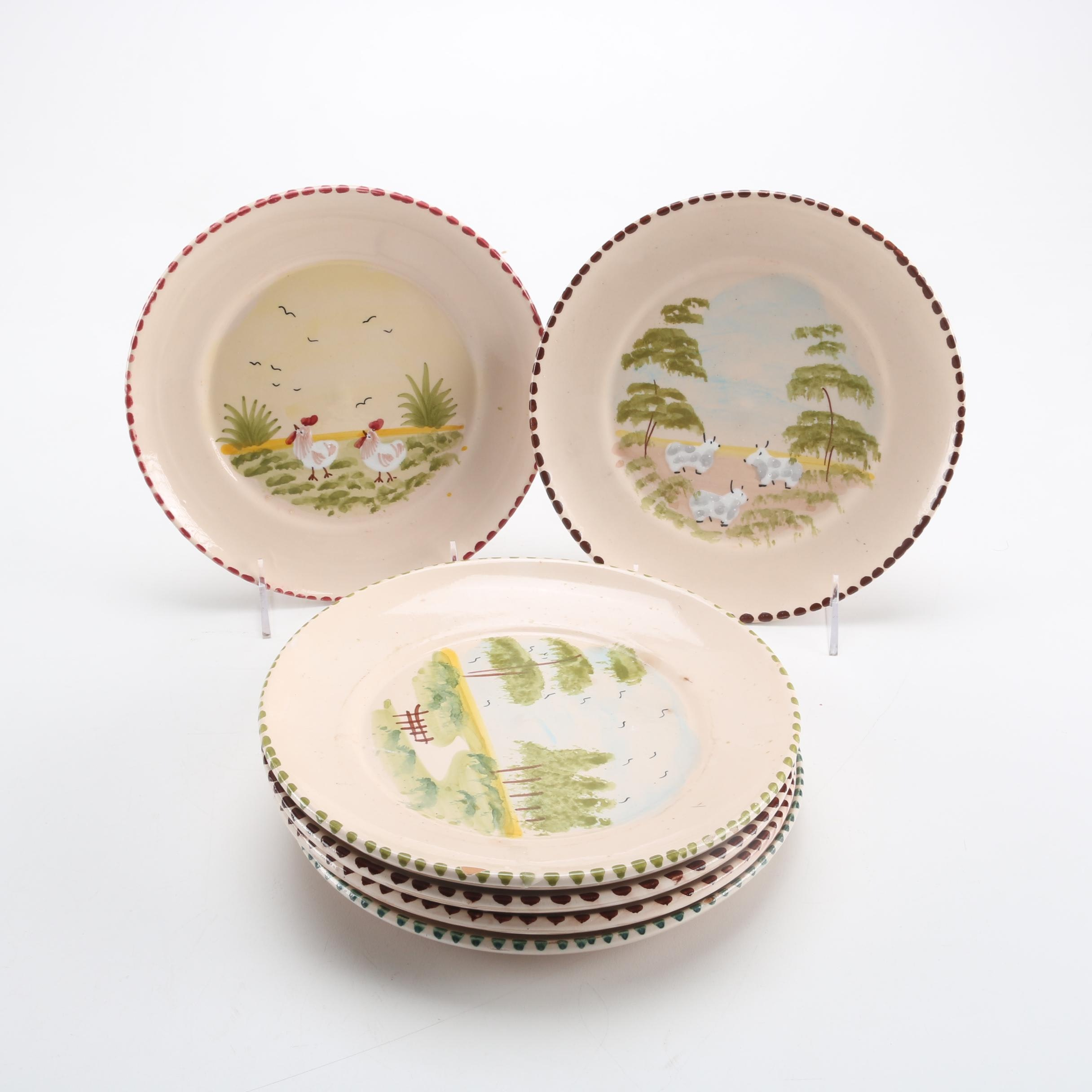 Selection of Hand-Painted Plates