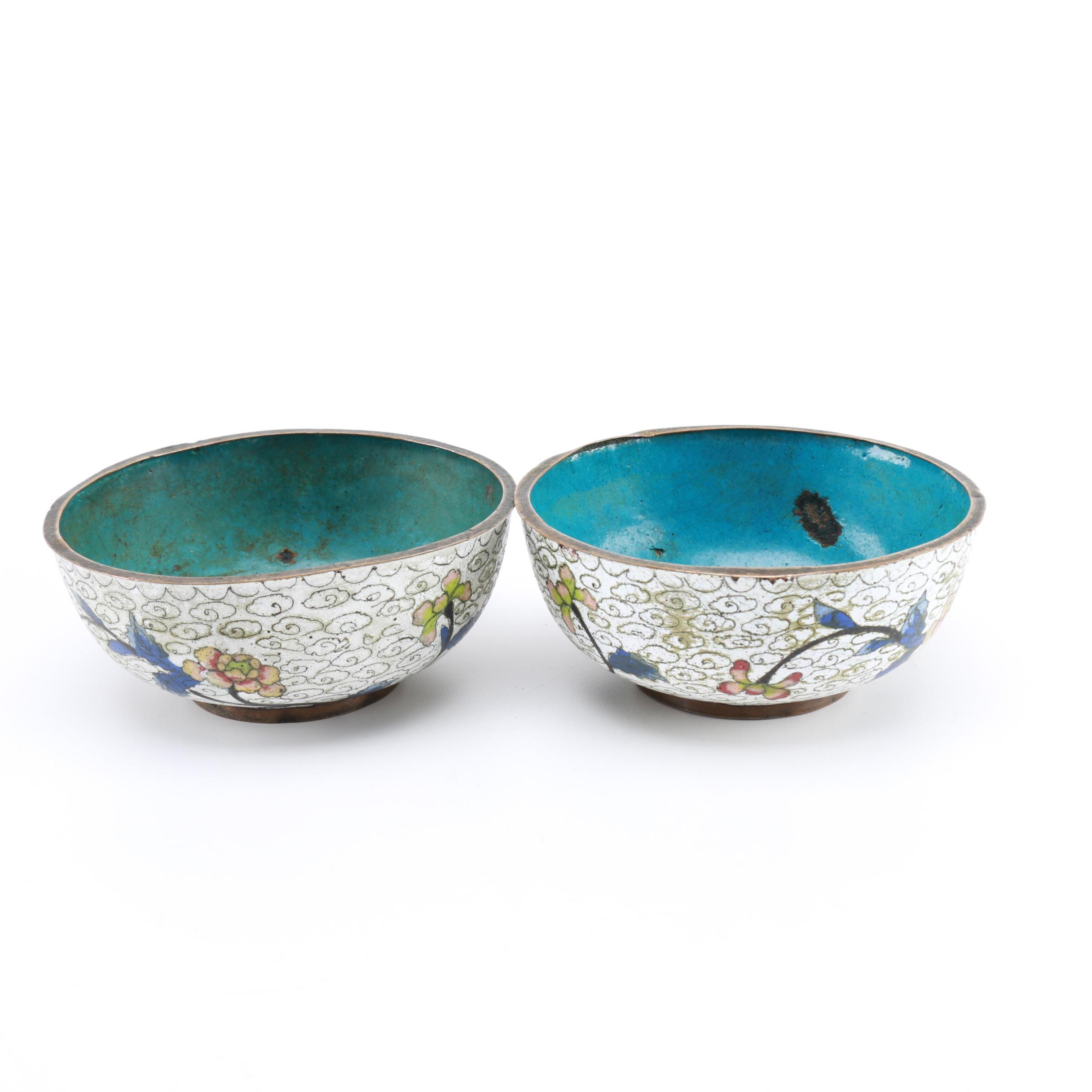 Antique Chinese Cloisonné Bowls