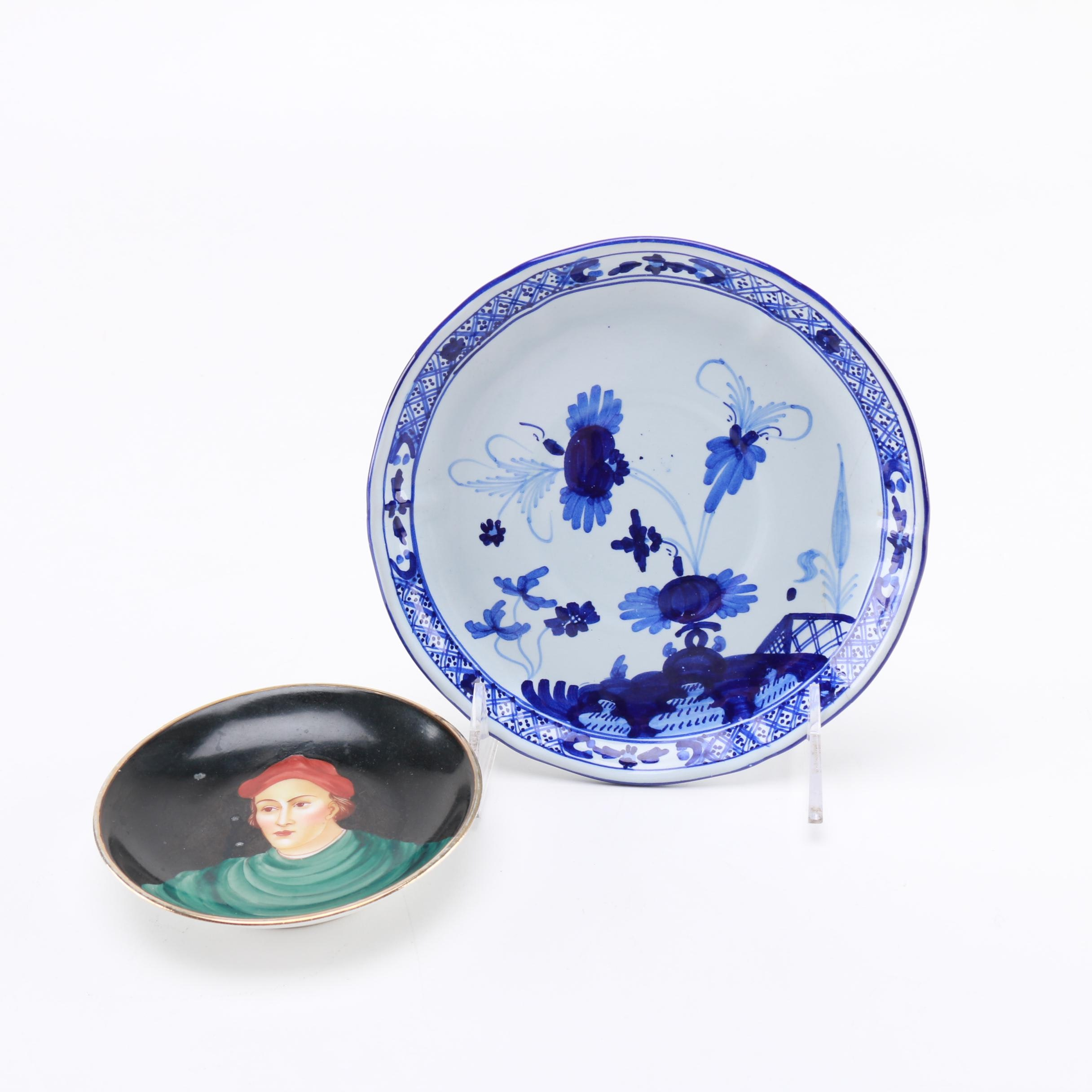 Hand Painted Italian China Plates