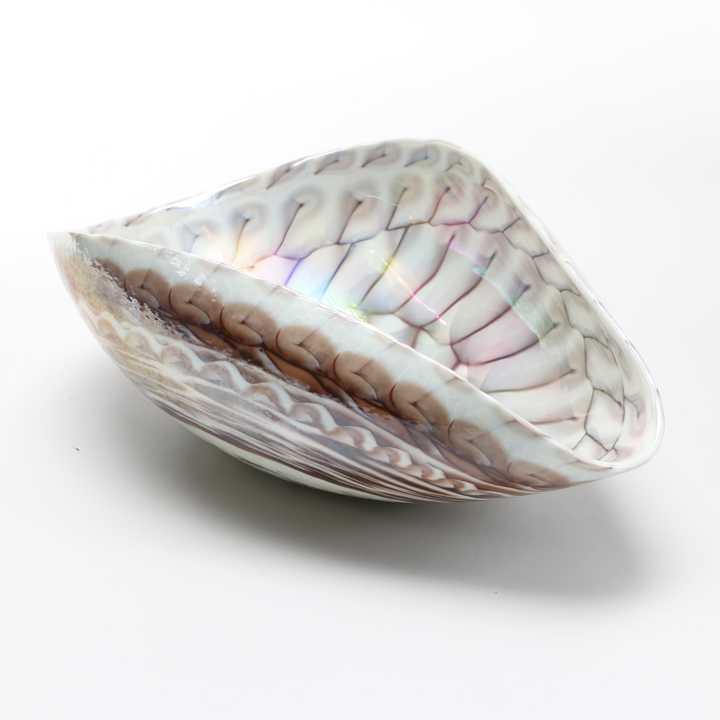 Murano Seashell Art Glass Bowl