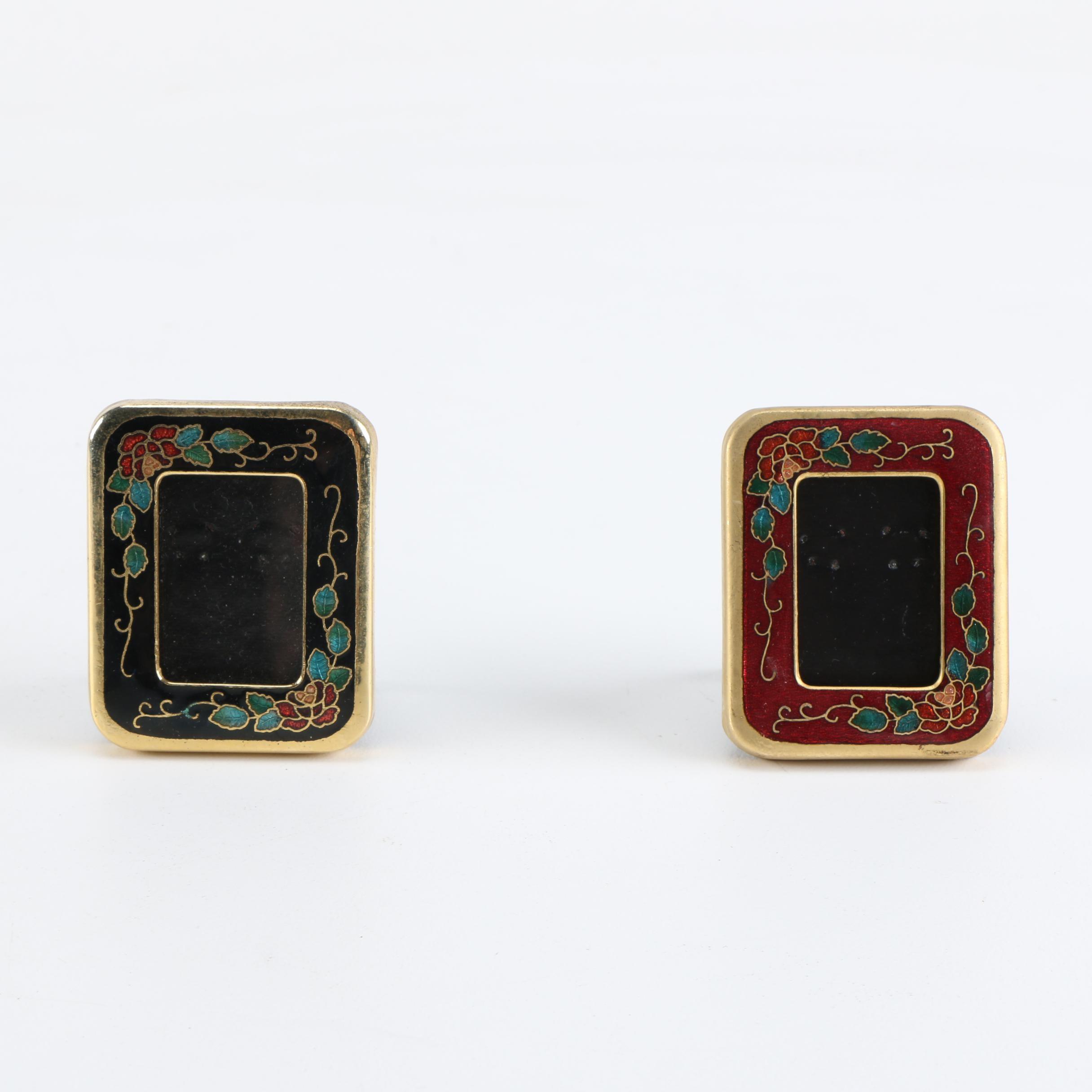 Miniature Cloisonne Picture Frames