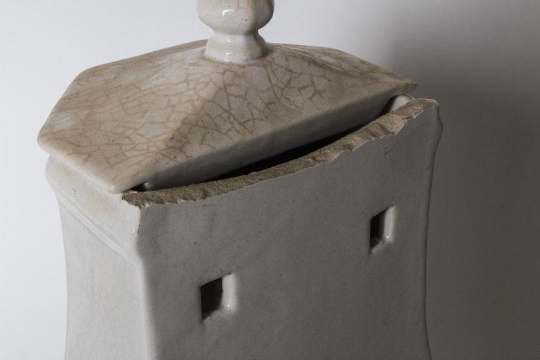 vintage french ironstone lavabo font and basin ebth. Black Bedroom Furniture Sets. Home Design Ideas
