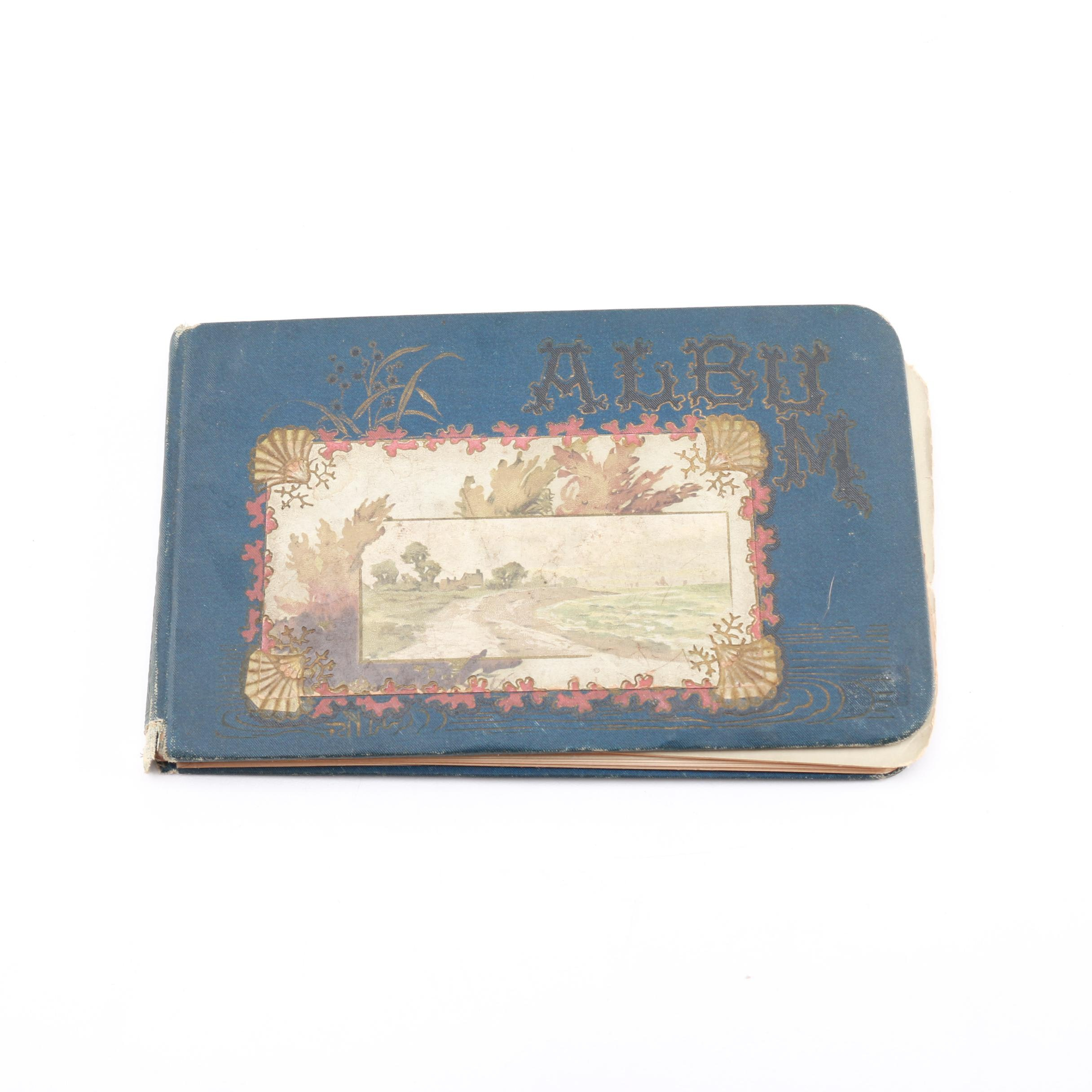Victorian-Era Autograph Album With Personal Notes and Chromolithograph Prints