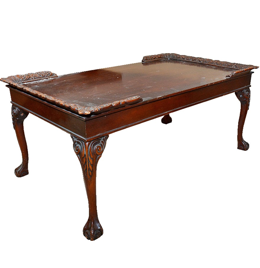 Vintage chippendale style mahogany coffee table ebth vintage chippendale style mahogany coffee table geotapseo Gallery