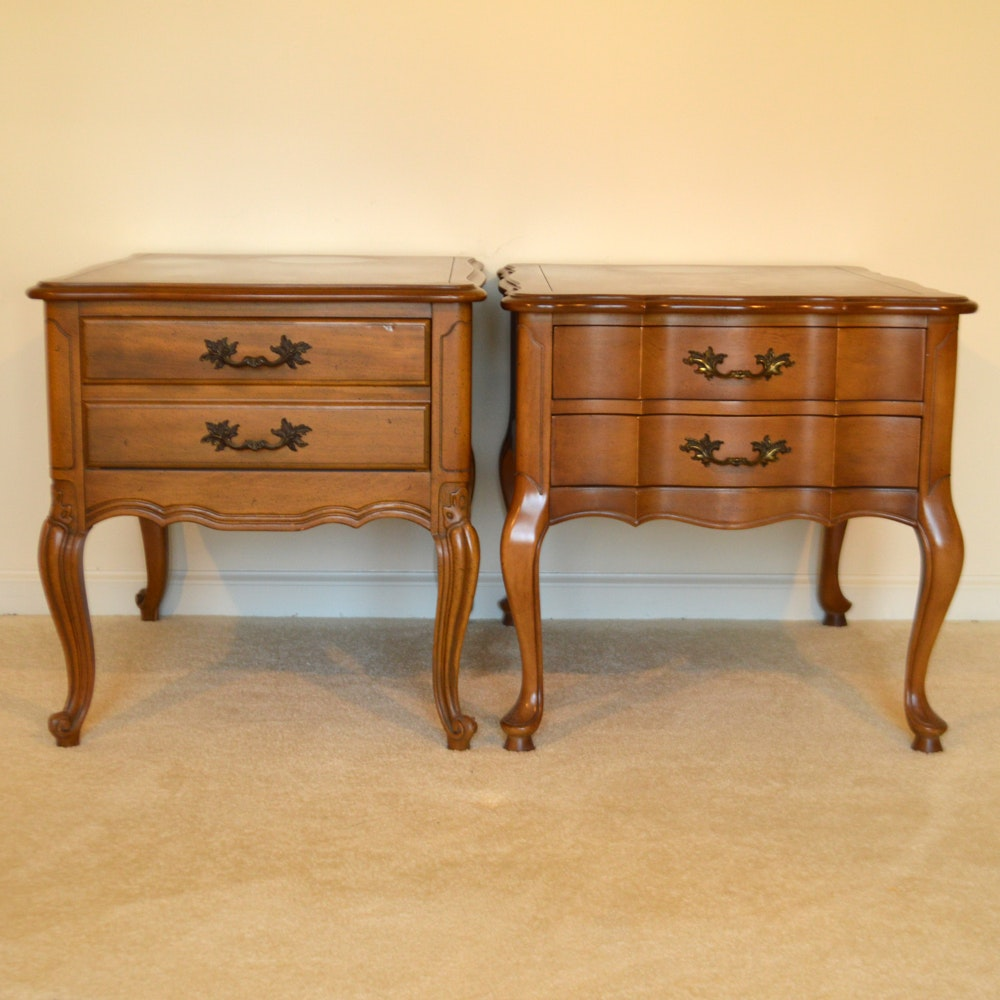 Hammary French Provincial Style End Tables ...