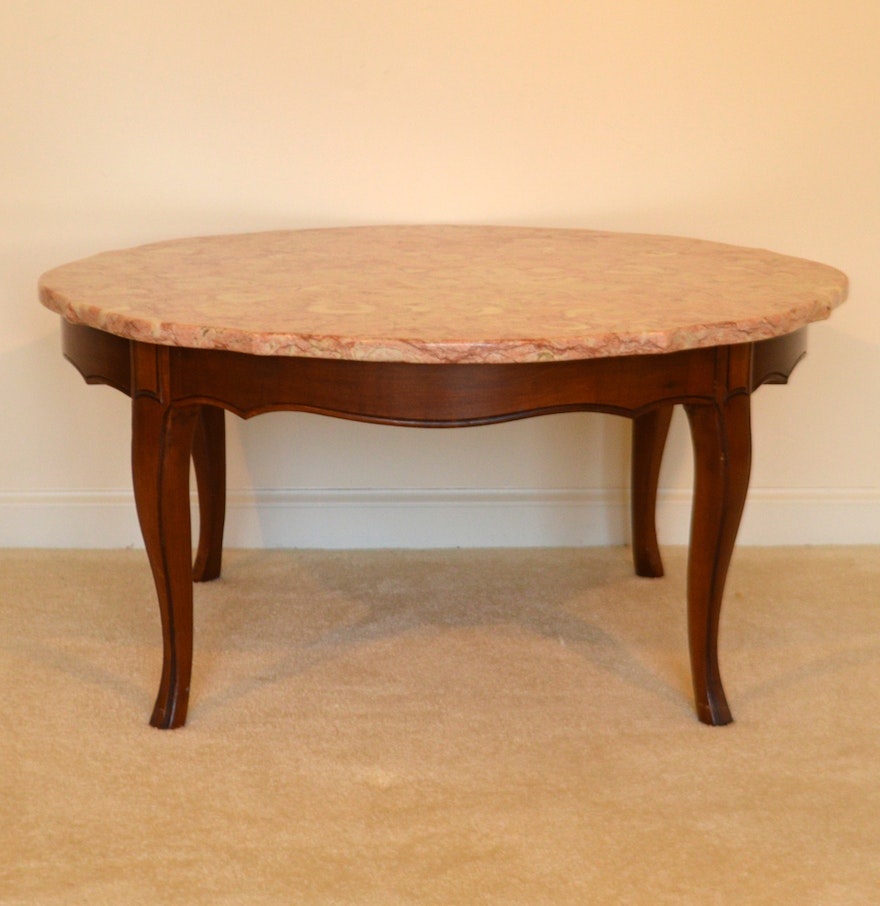 Style Coffee Table Vintage French Provincial Style Coffee Table With Pink Marble Top