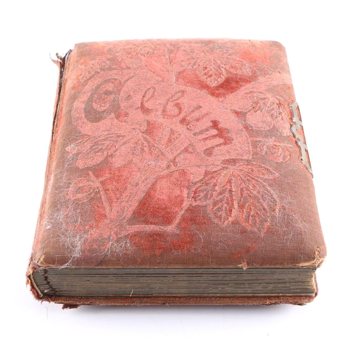Antique Photo Album With Ambrotype and Albumen Photographs
