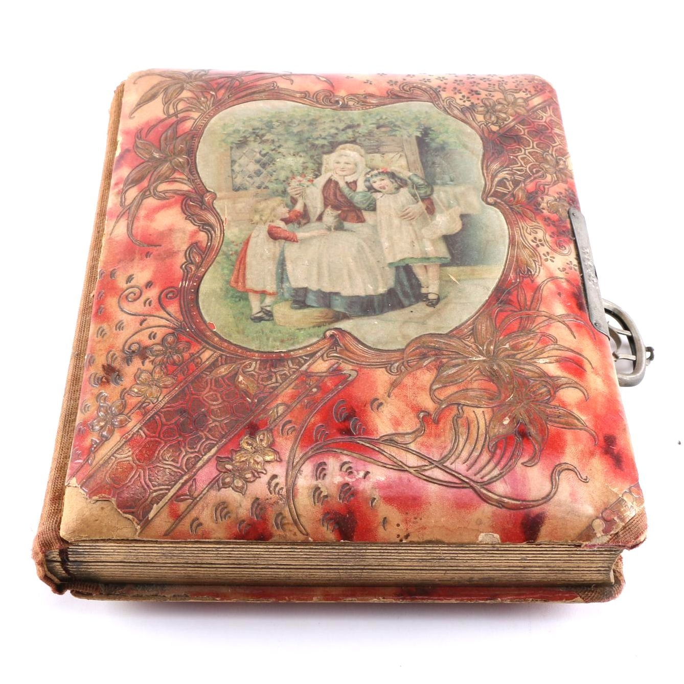 Victorian Photo Album With Albumens and Ambrotypes