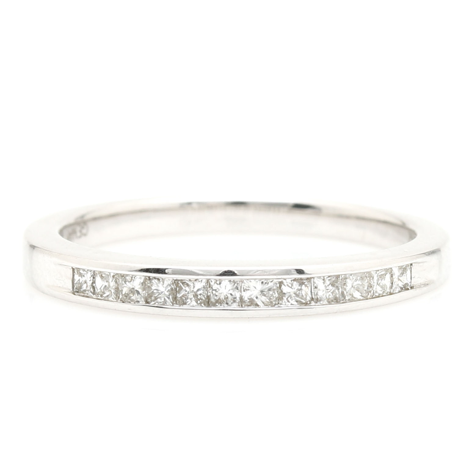 14K White Gold and Diamond Eternity Ring