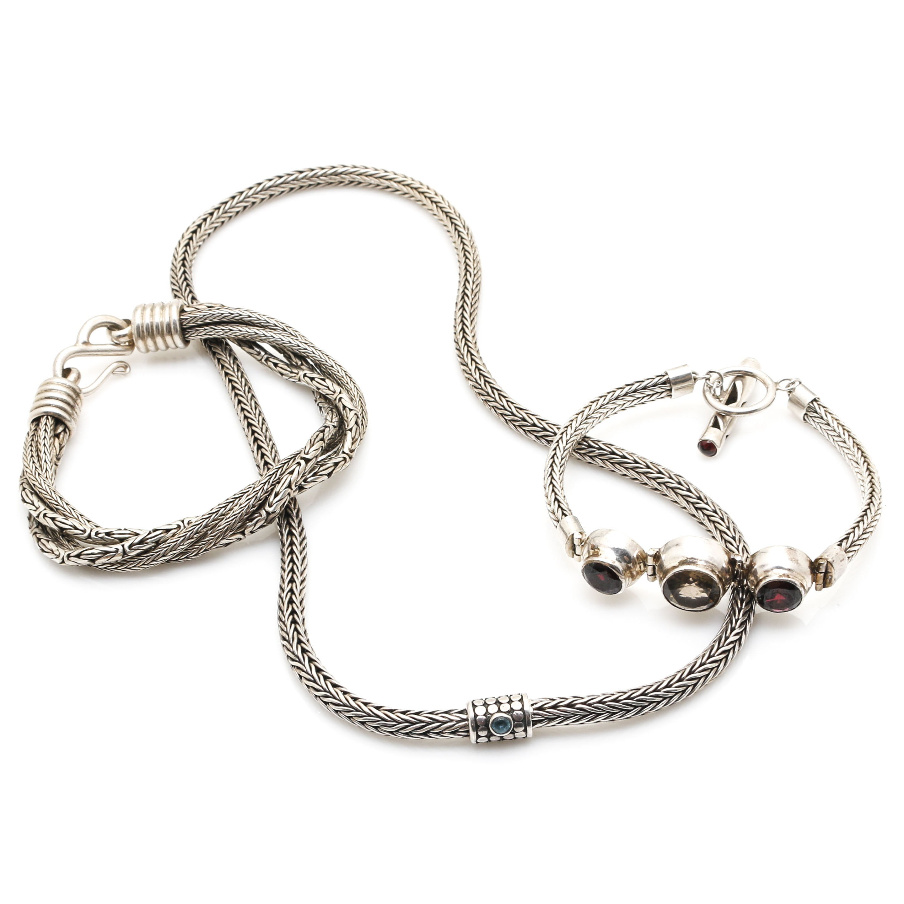 Sterling Silver Foxtail Chain Assortment