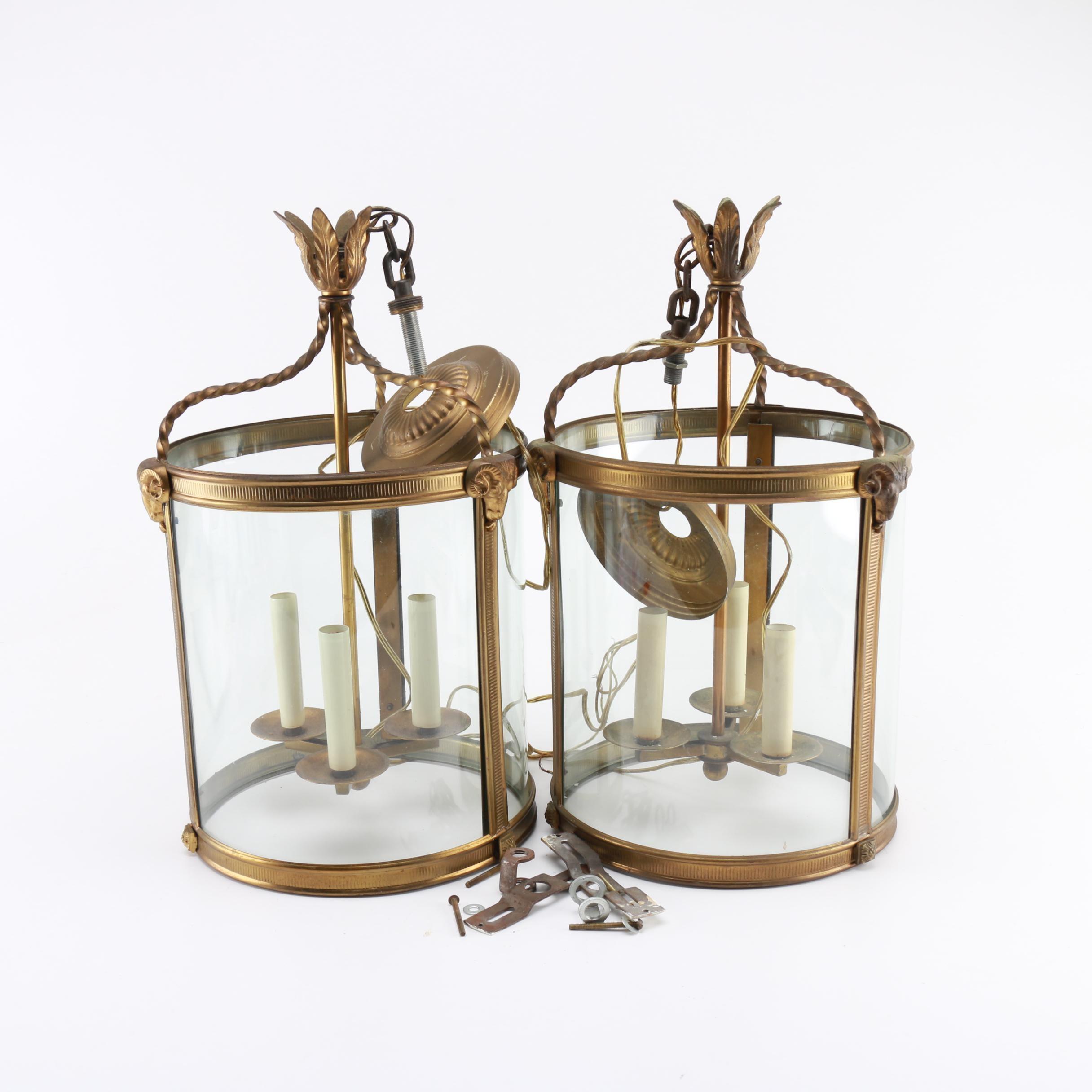 Bronze Tone Hanging Lamps