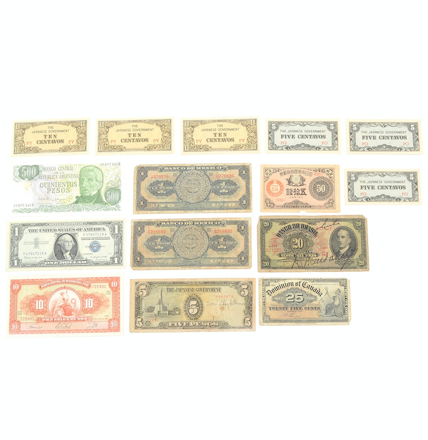 Assorted foreign currency and 1957 us silver certificate ebth assorted foreign currency and 1957 us silver certificate xflitez Images
