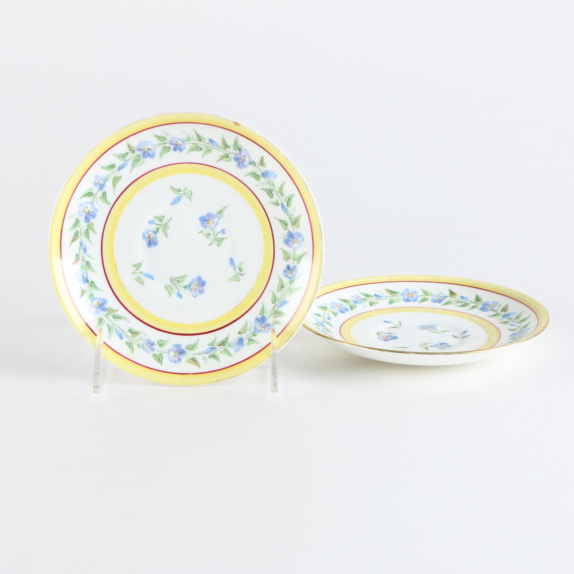 Antique French Hand-Painted Porcelain Plates