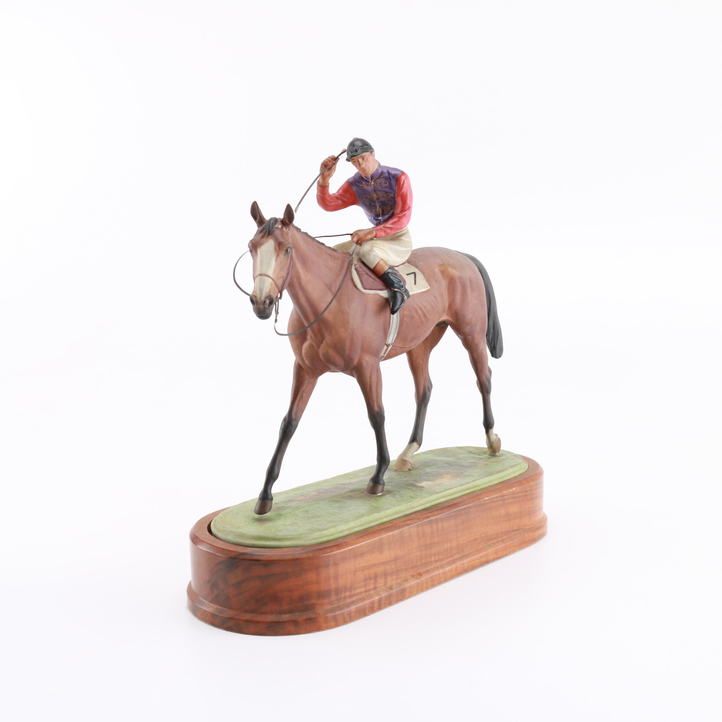 "Reproduction of Doris Lindner's 1959 Porcelain Sculpture ""The Winner"""