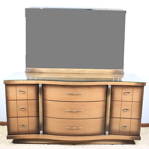 Mid-Century Dresser with Mirror by United Furniture Corp.