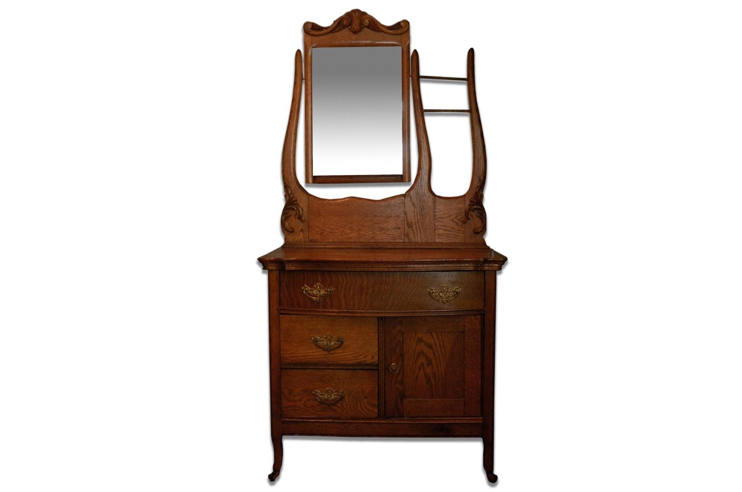 Circa 1900 Washstand With Mirror