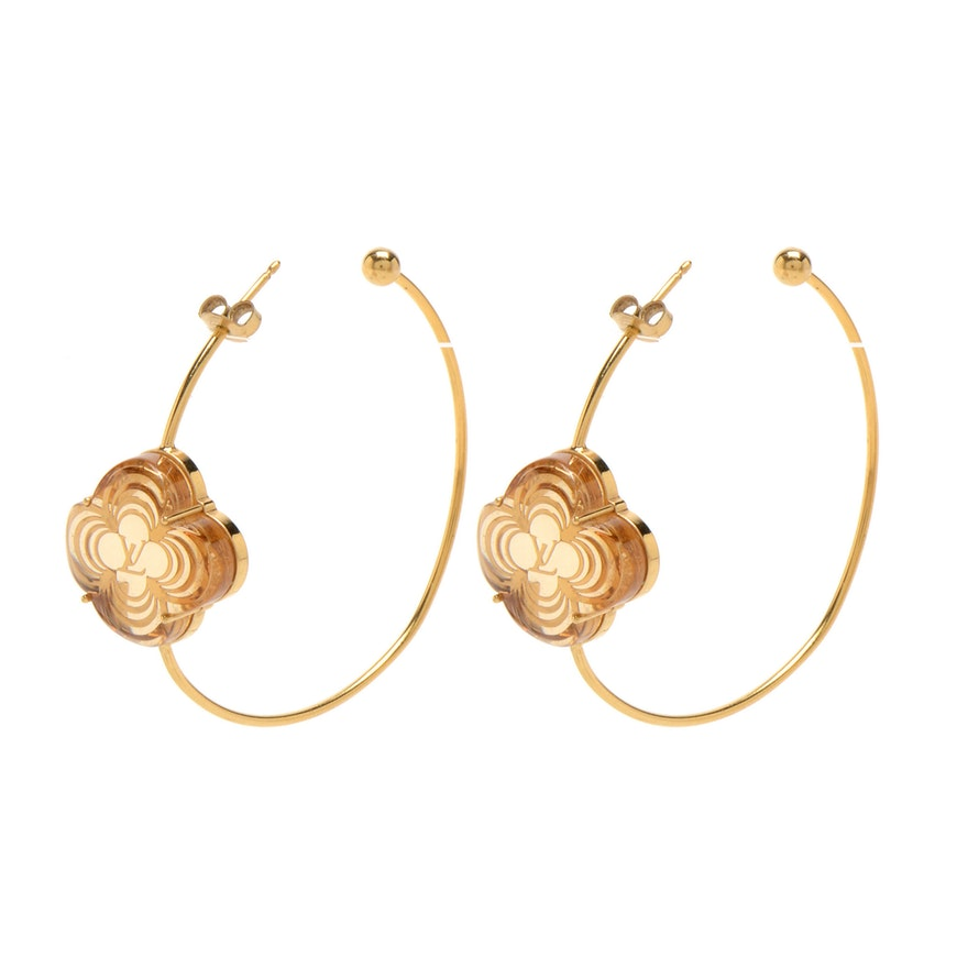 96bd5f3fd Louis Vuitton A La Folie Earrings : EBTH