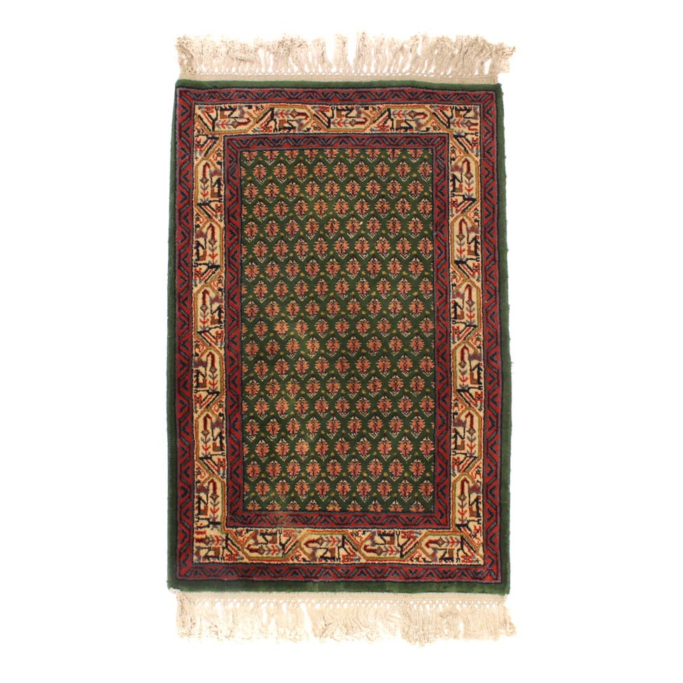 Hand-Knotted Kaimuri Indian Senneh Serabend-Style Accent Rug