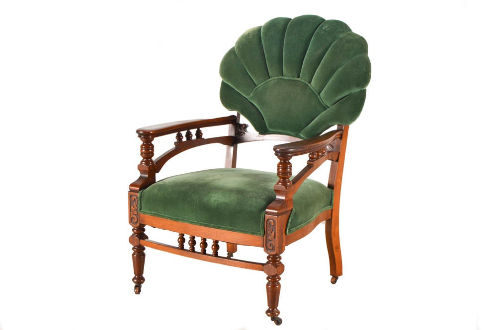 Antique Eastlake Fan Back Armchair