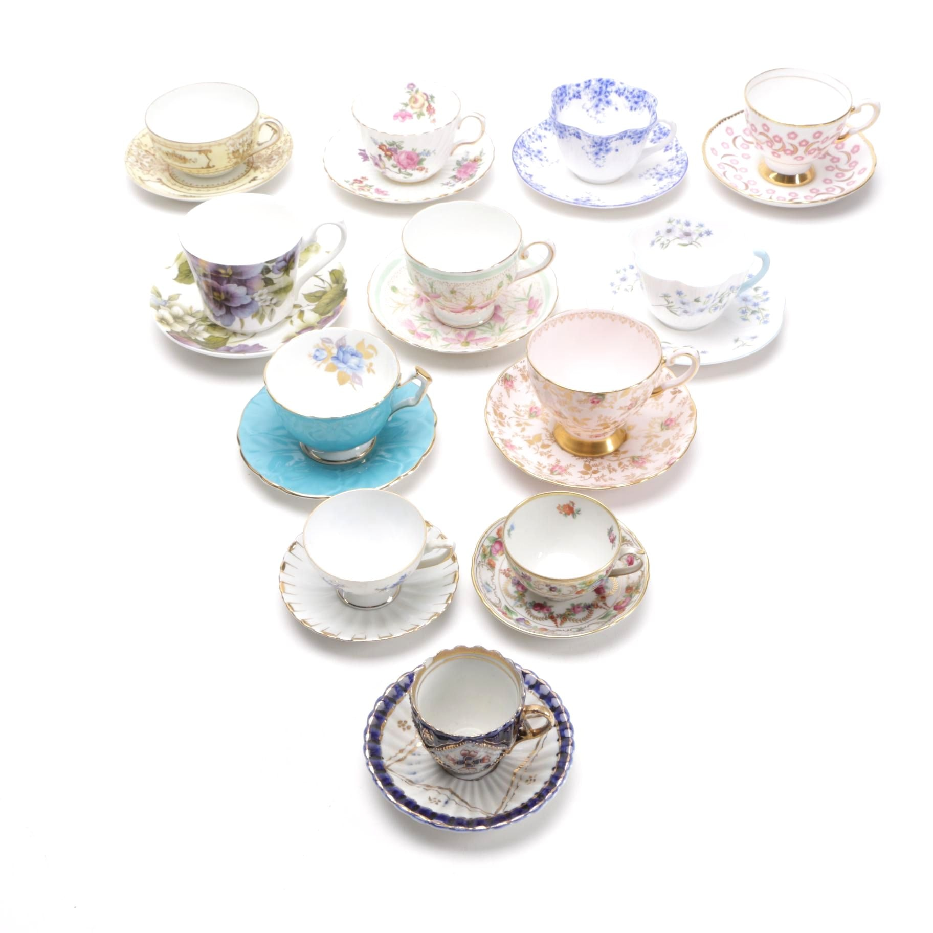 Teacups and Saucers Featuring Nippon