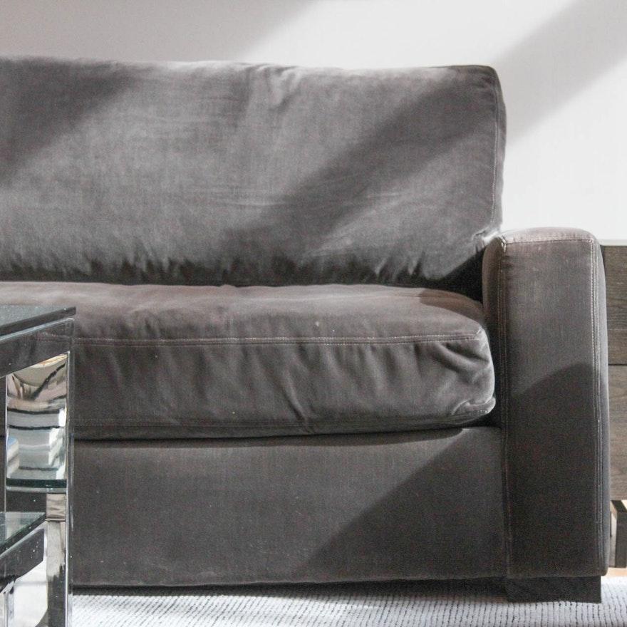 Restoration Hardware Maxwell Velvet Upholstered Sofa