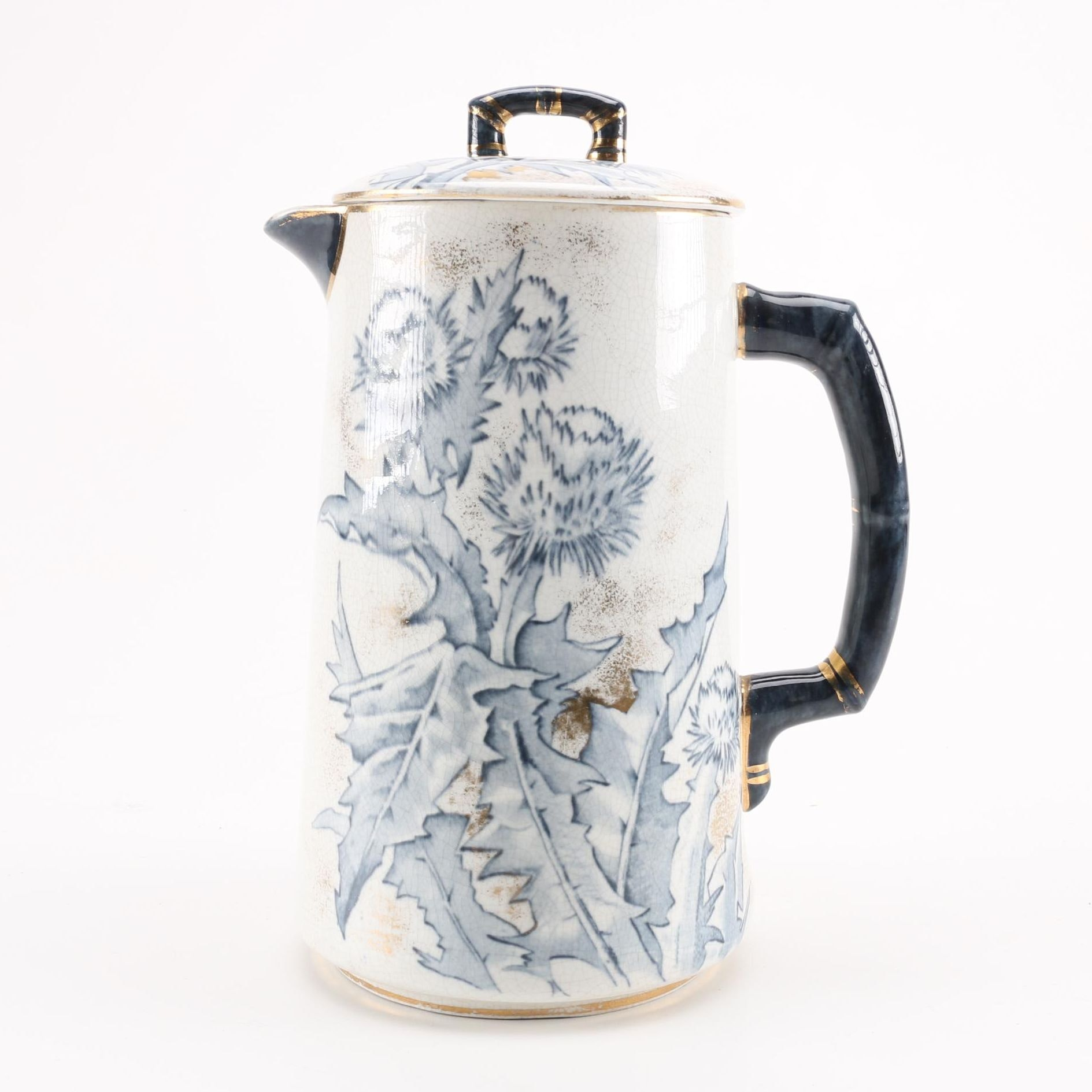 Burroughs & Mountford Floral Pitcher