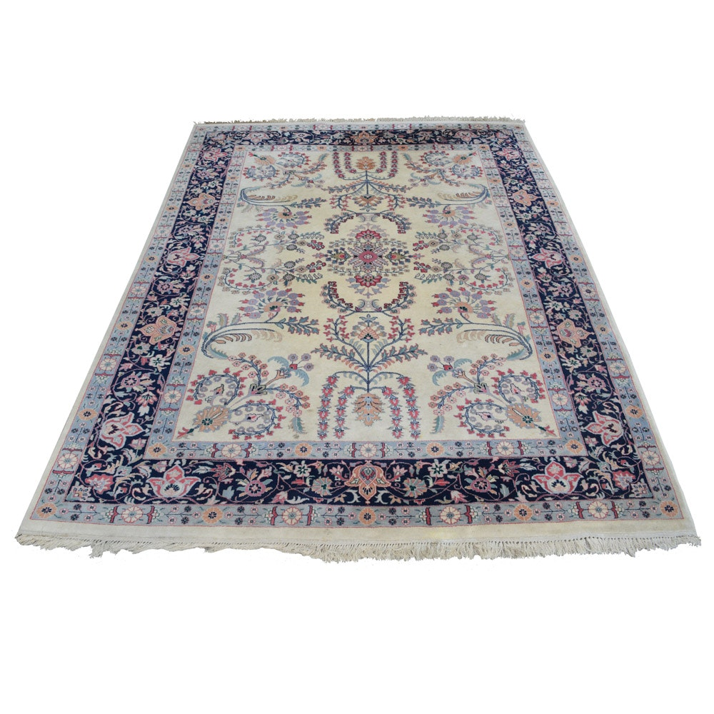 Signed Hand-Knotted Persian Area Rug