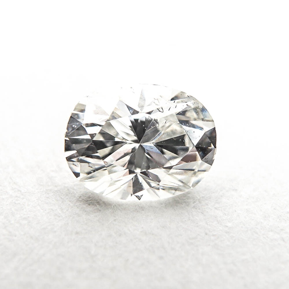 Loose Oval Cut 0.49 Carat Diamond