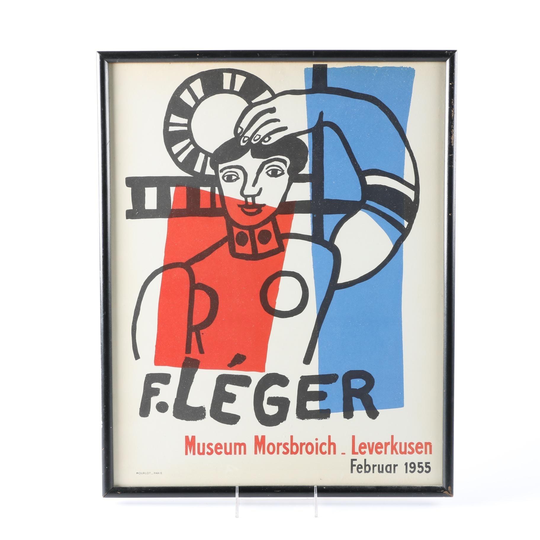 Fernand Leger Lithograph for Museum Morsbroich