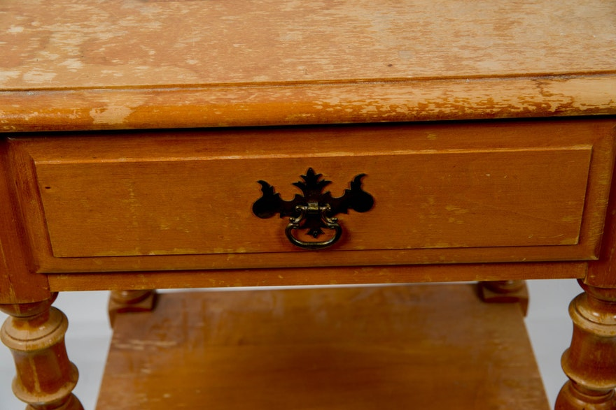 Vintage Colonial Revival Style Side Table By Kling